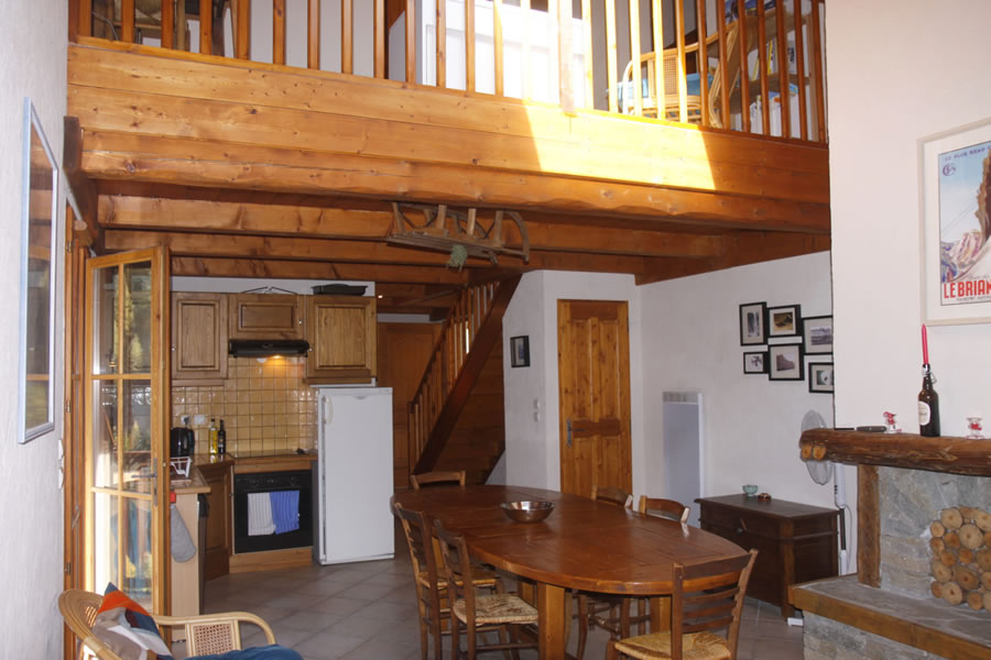 The mezzanine over the kitchen area