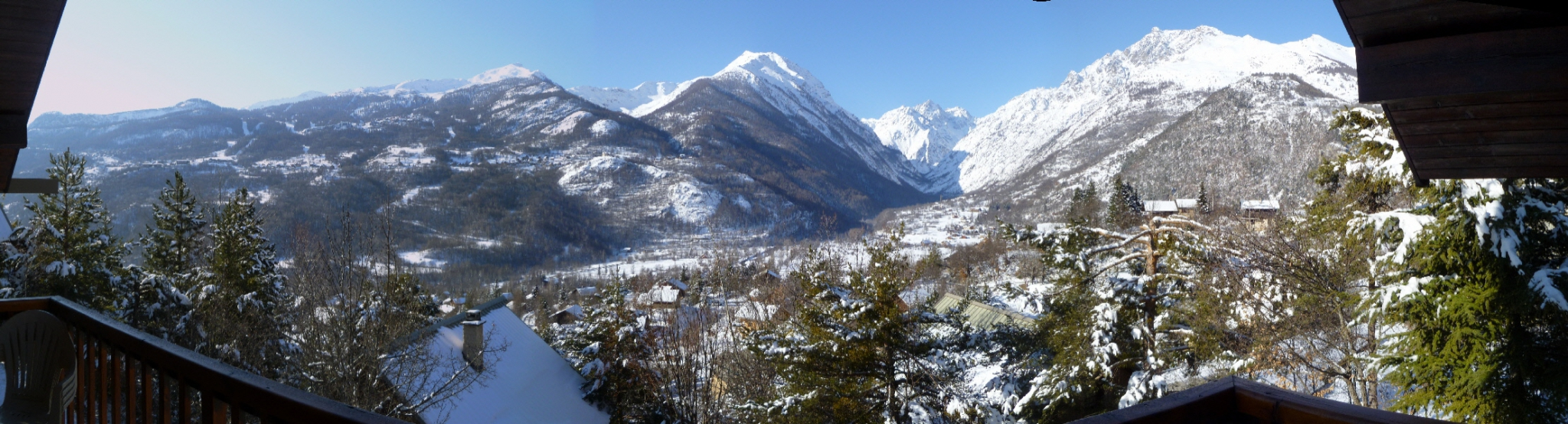 view from chalet ailefroide