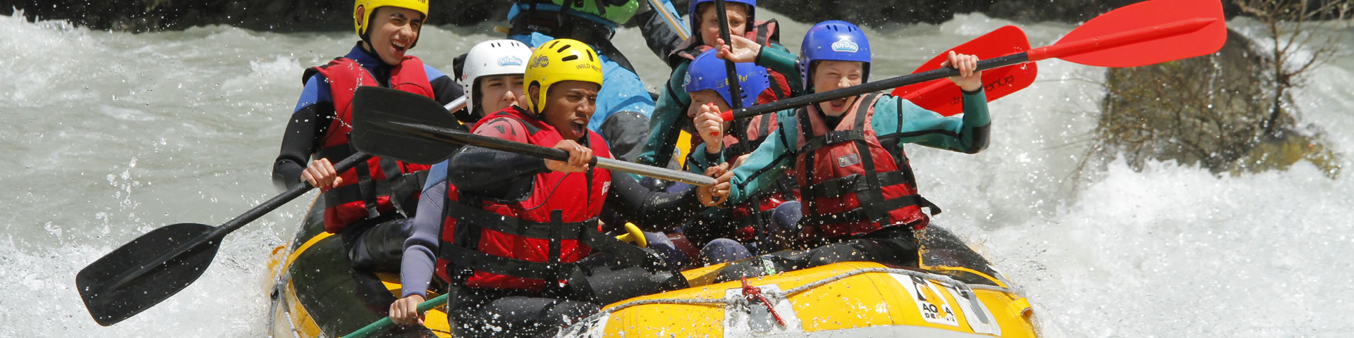 White water rafting in the Durance