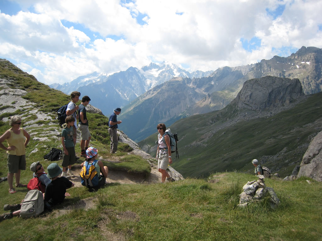 Stunning vistas abound when walking in the French Alps