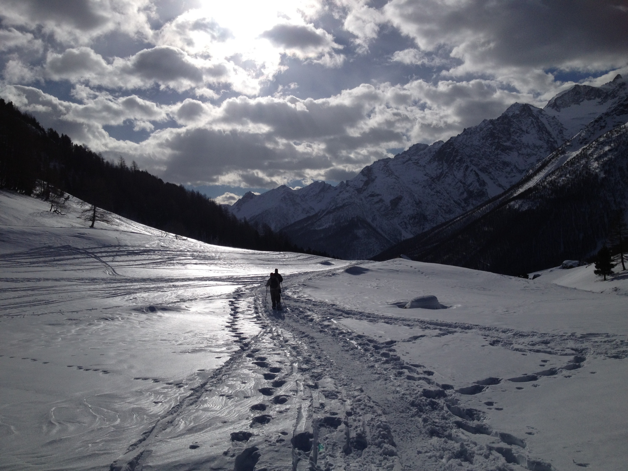snowshoeing ecrins national park