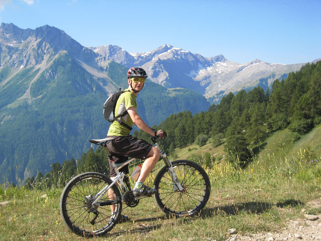 A good day out MTB in the French Alps near Vallouise