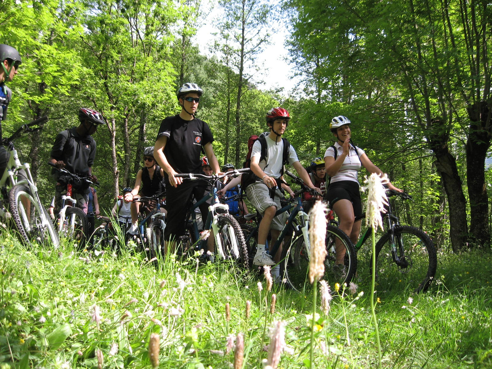 mountain bike youth group training