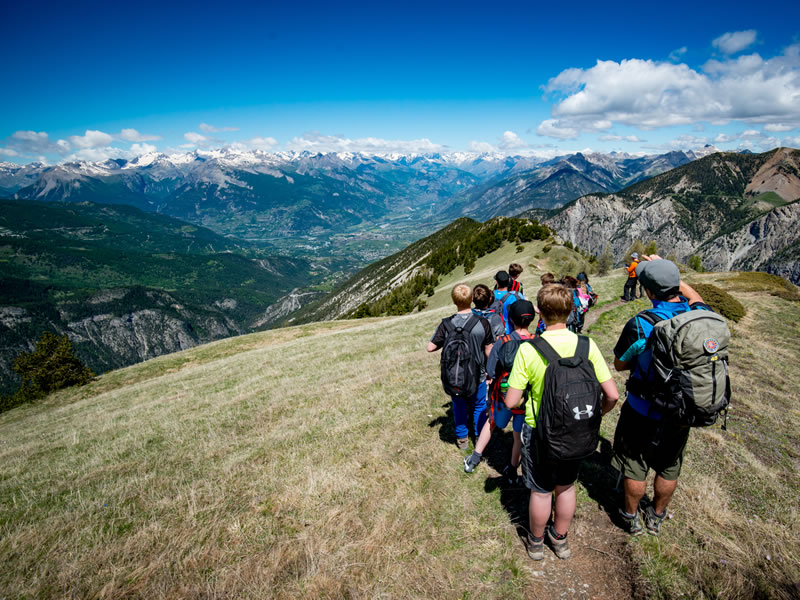 School activity courses in the French Alps